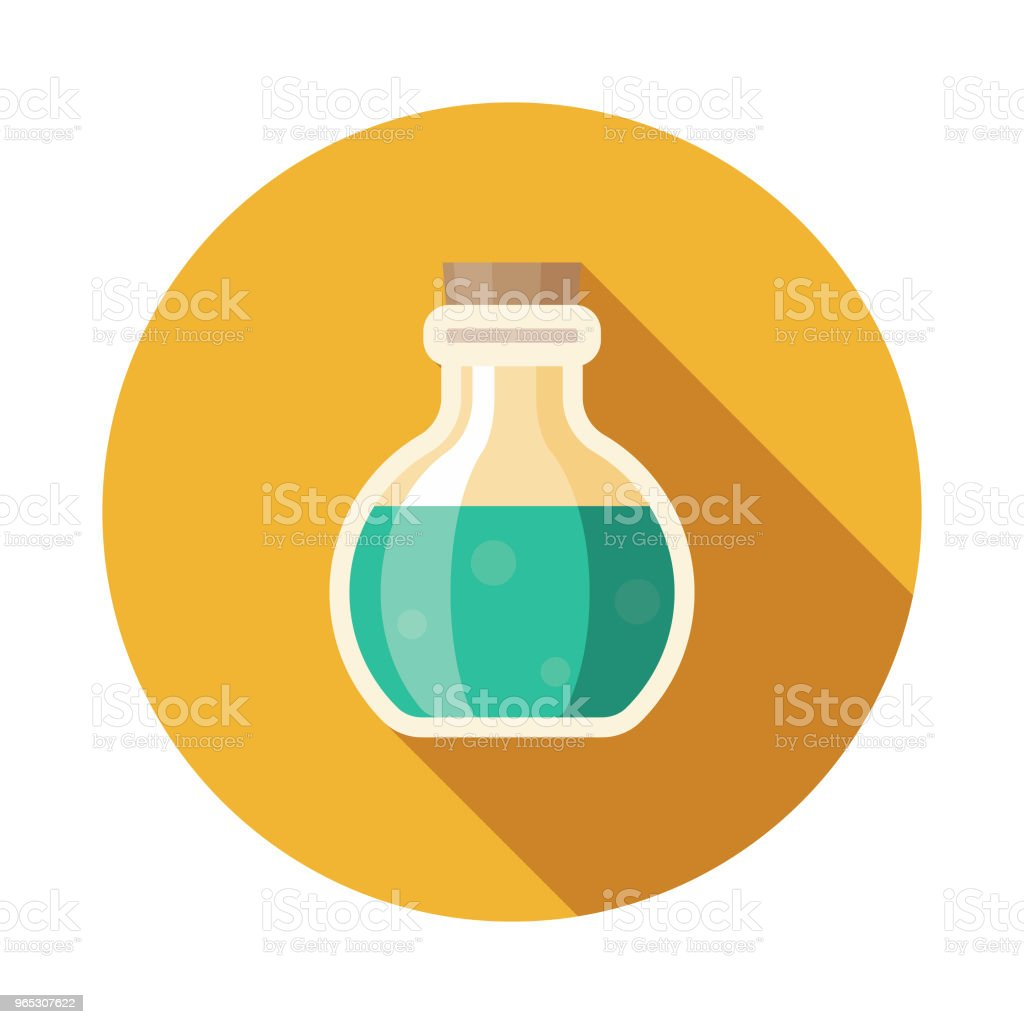 Potion Flat Design Fantasy Icon royalty-free potion flat design fantasy icon stock vector art & more images of adventure