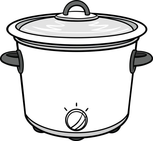 79 Cartoon Of A Crock Pot Illustrations Clip Art Istock