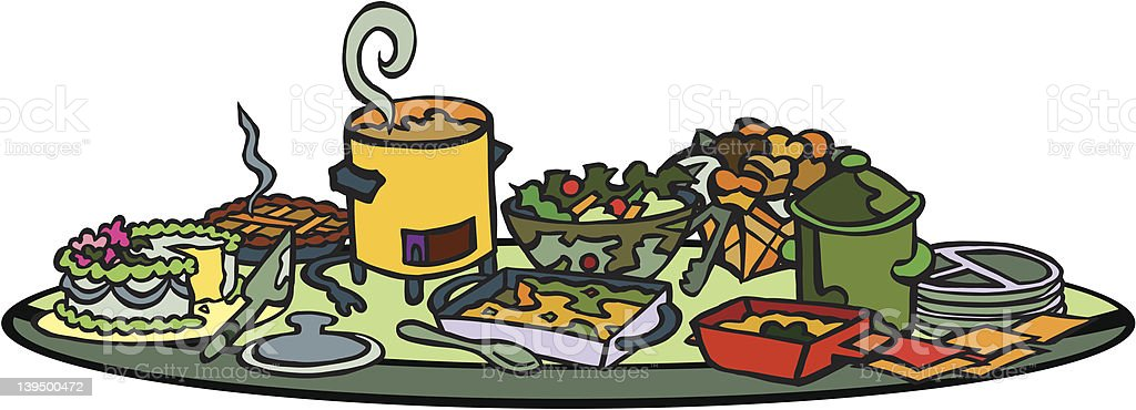 royalty free potluck clip art vector images illustrations istock rh istockphoto com potluck clipart pictures thanksgiving potluck clipart