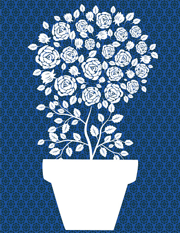 Potted Rose Tree Invitation Template