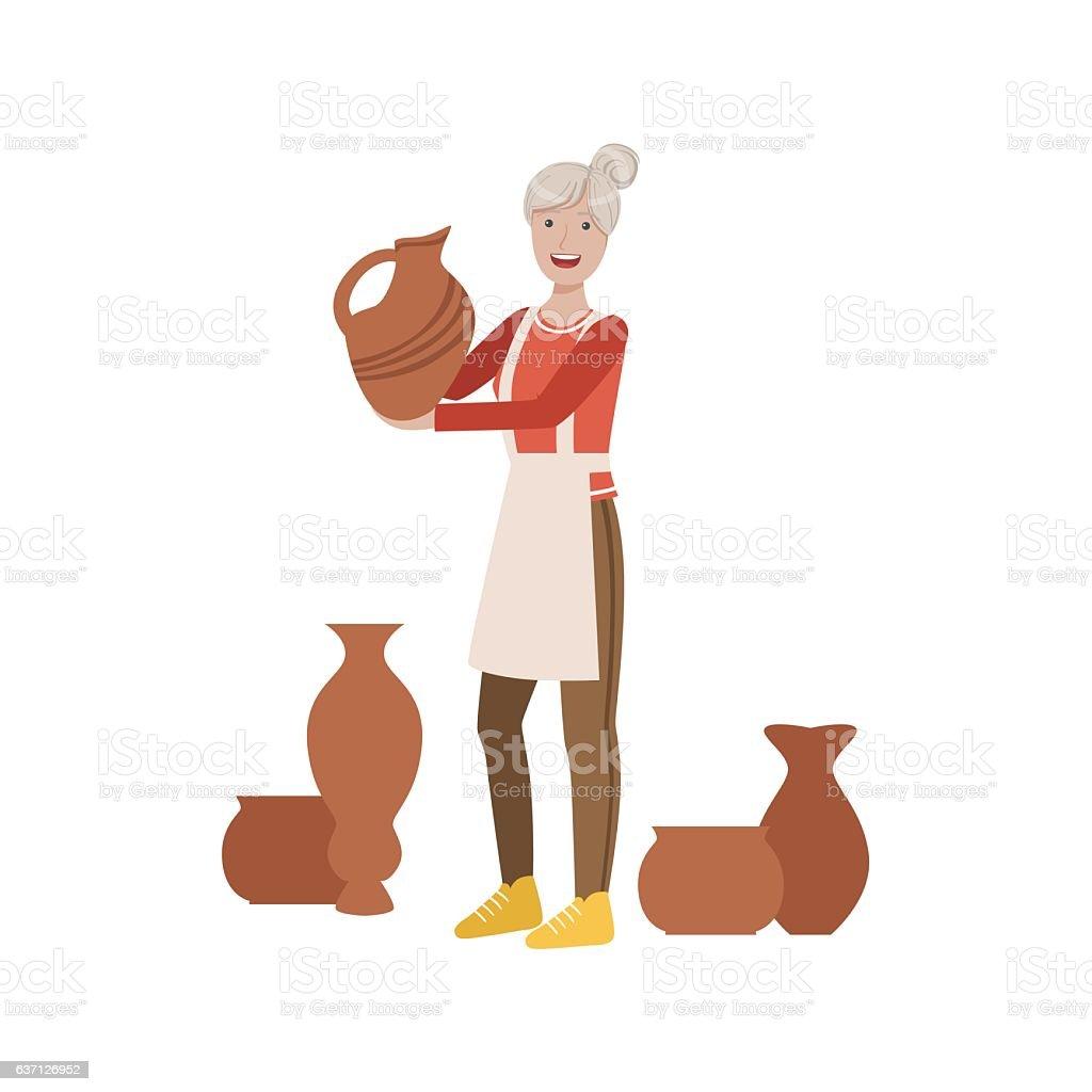Potter, Creative Person Illustration - ilustración de arte vectorial