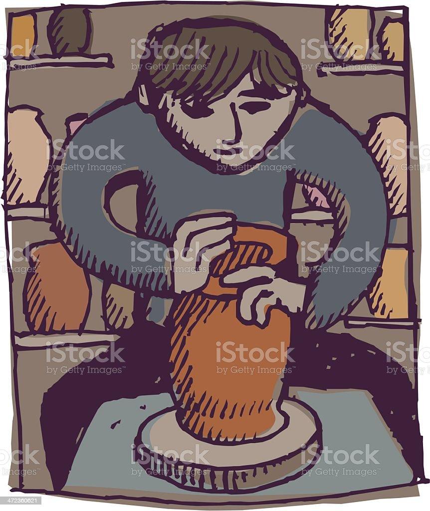 Potter - ilustración de arte vectorial