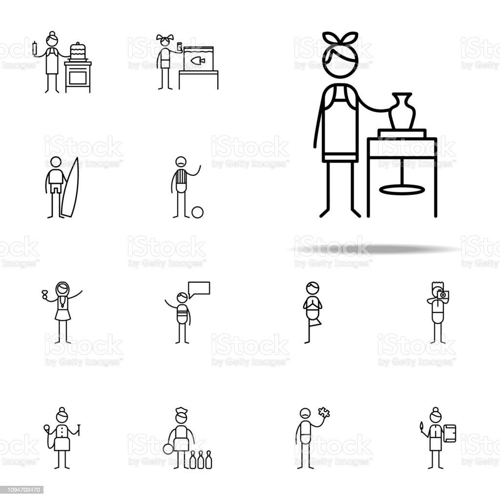 icono de cerámica. Los iconos de hobbie universales set para web y móvil - ilustración de arte vectorial