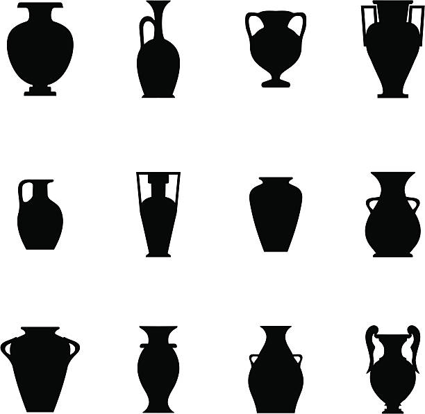 ceramika ikona - wyrób ceramiczny stock illustrations