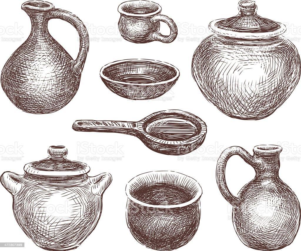 陶器 イラストレーションのベクターアート素材や画像を多数ご用意 Istock