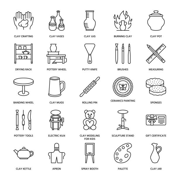 Pottery Wheel Illustrations, Royalty-Free Vector Graphics