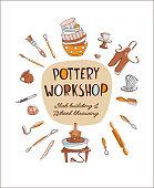 Pottery Workshop Studio invitation Pottery Worshop Studio invitation doodle style