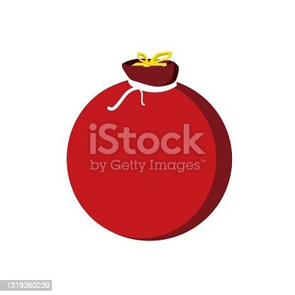 istock Pouch Flat Icon Illustration 1319360239