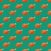 Poultry Meat Seamless Pattern