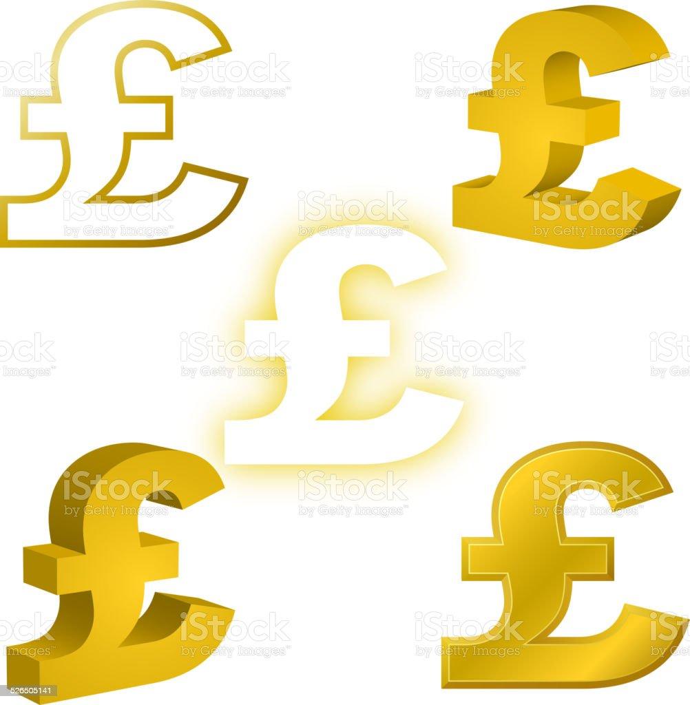 Pound Currency Symbol vector art illustration
