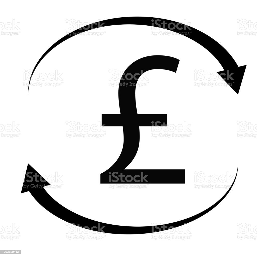 Pound Icon On White Background Flat Style Pound Sign British Pounds