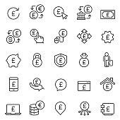 istock Pound icon set 910159280