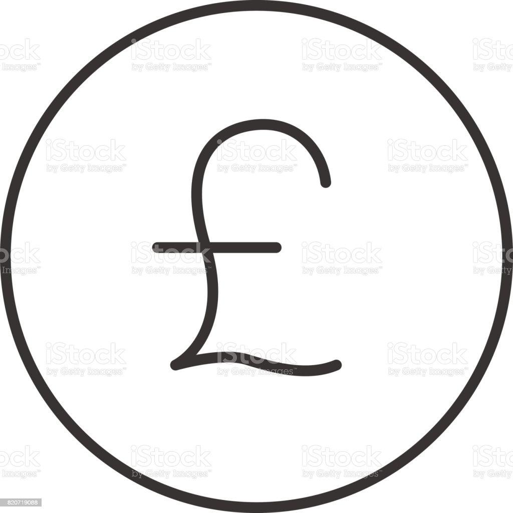 Pound icon vector art illustration