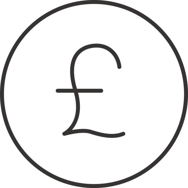 빻습니다 아이콘크기 - 영국 화폐 단위 stock illustrations
