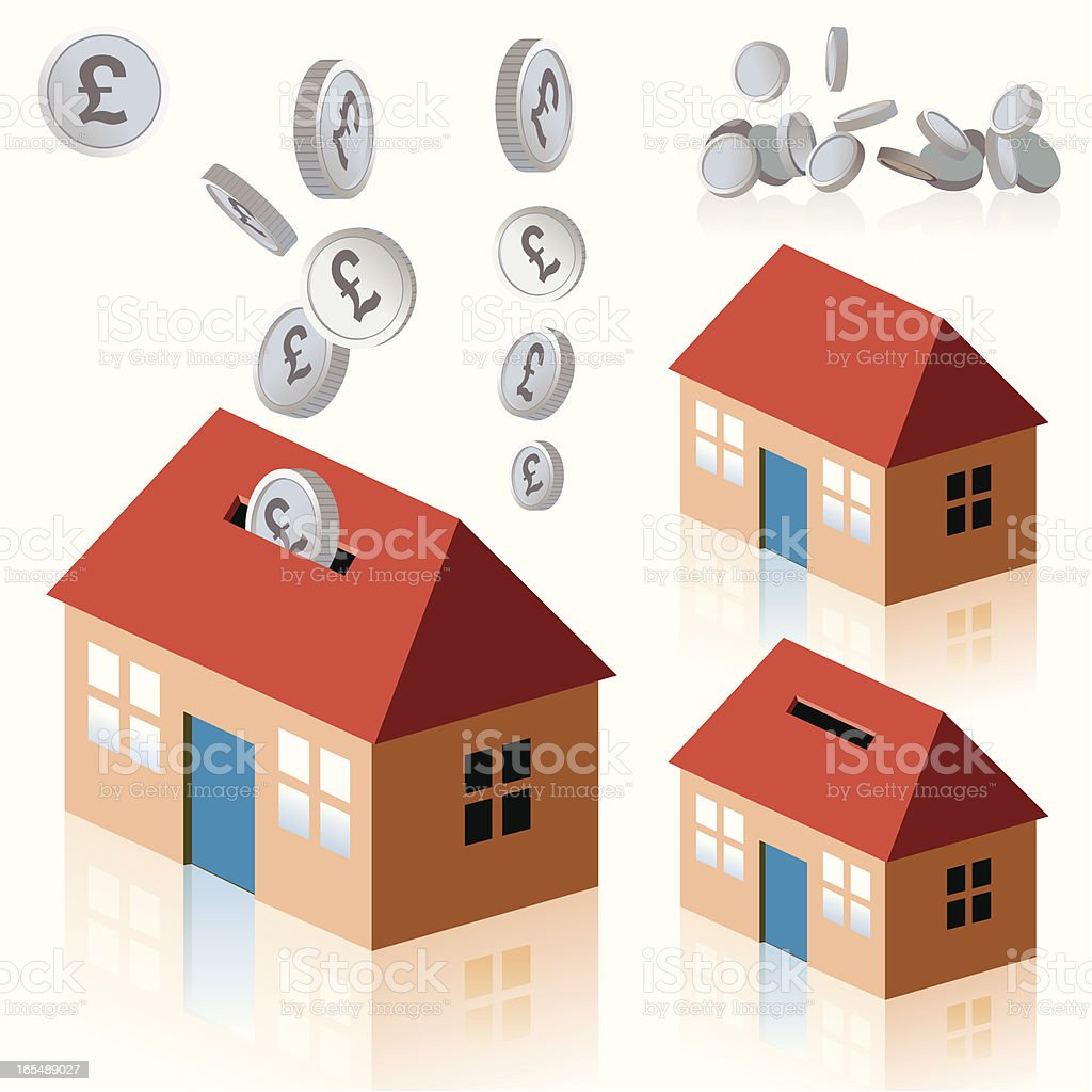 UK Pound Money House royalty-free stock vector art