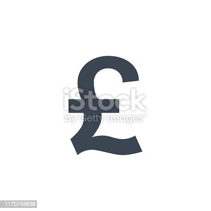 Pound related vector glyph icon. Isolated on white background. Vector illustration.