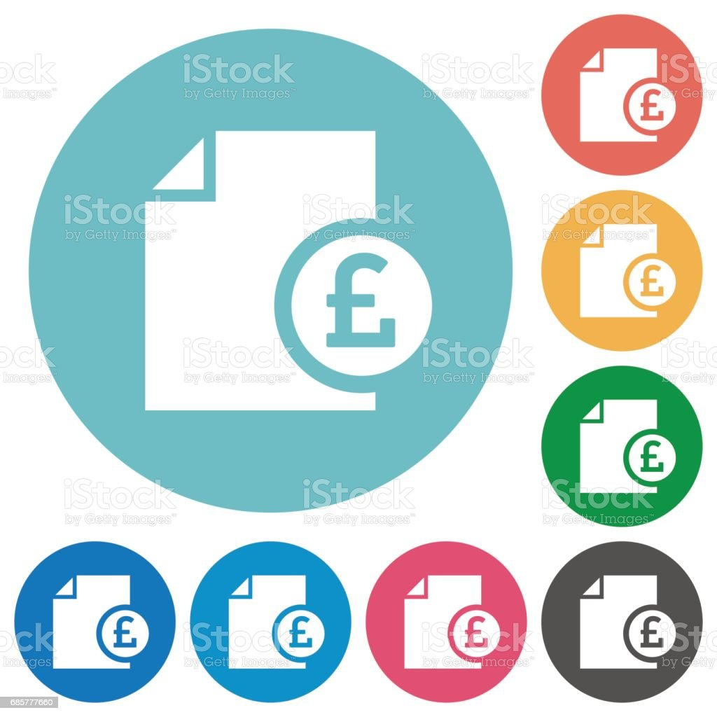 Pound report flat icons royalty-free pound report flat icons stock vector art & more images of applying