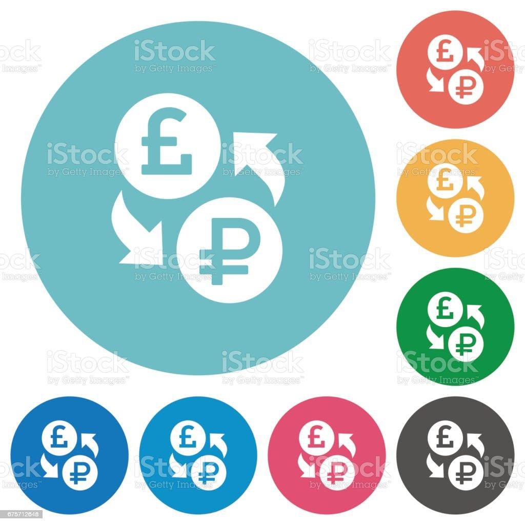 Pound Ruble money exchange flat round icons 免版稅 pound ruble money exchange flat round icons 向量插圖及更多 主題 圖片