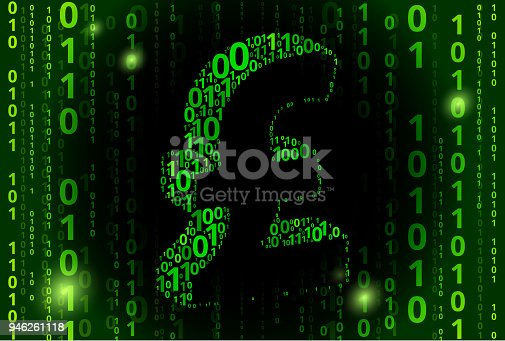 Pound Sign Binary Code Vector Pattern Background Stock Vector Art