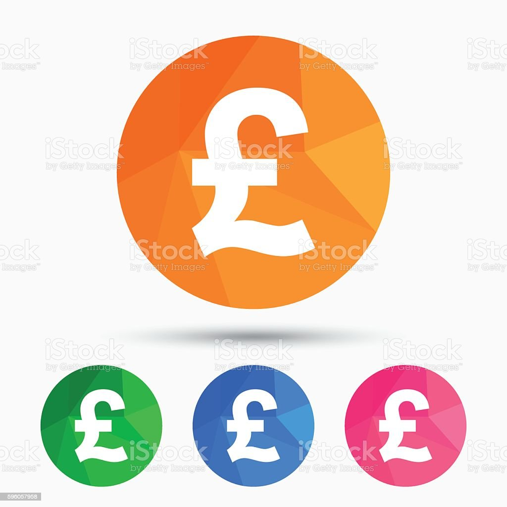 Pound Sign Icon Gbp Currency Symbol Stock Vector Art More Images