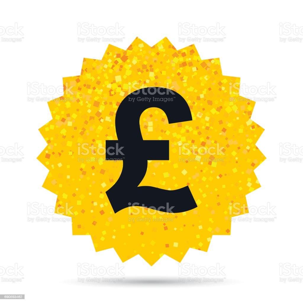 Icone De Livre Sterling Gbp Symbole Monetaire Vecteurs