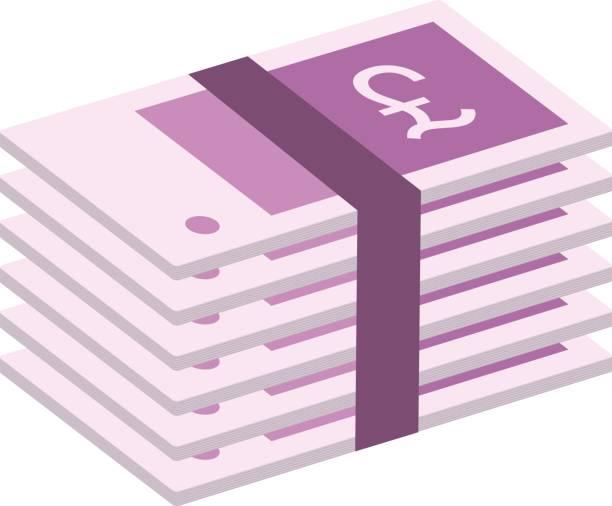 фунт стерлингов - символ фунта stock illustrations