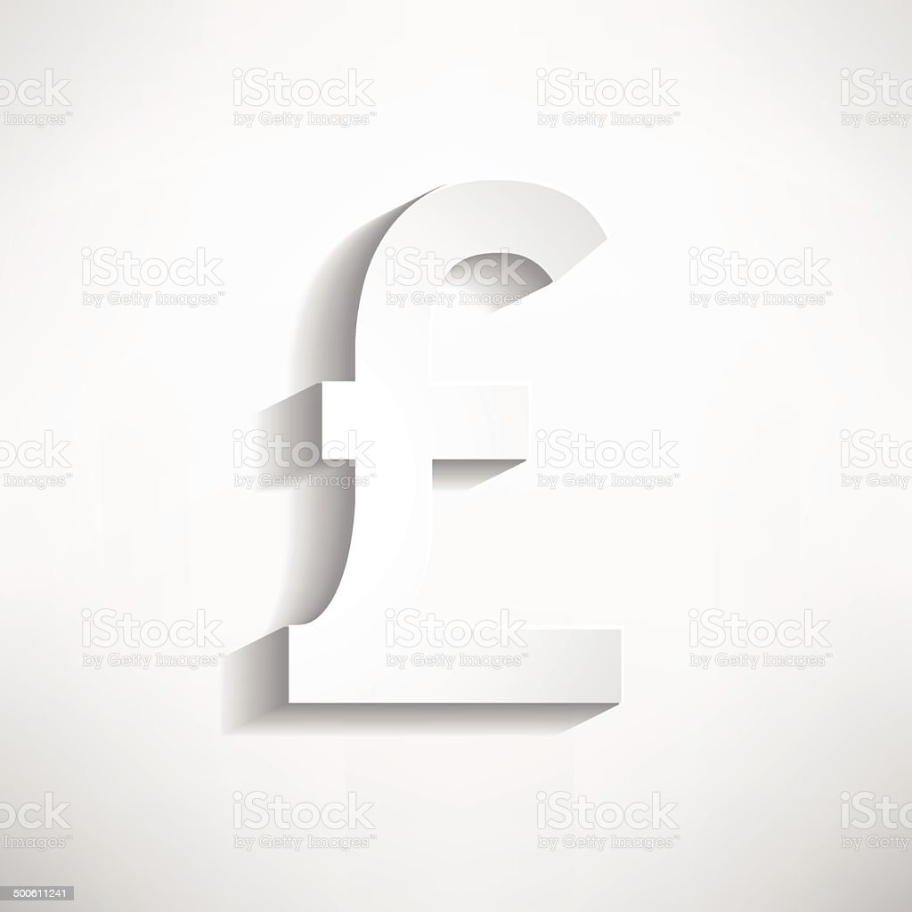 Pound Symbol Stock Vector Art More Images Of Backgrounds 500611241