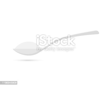 istock Pour. Spoon with sugar. Baking and cooking Ingredients. Vector stock illustration 1196945909