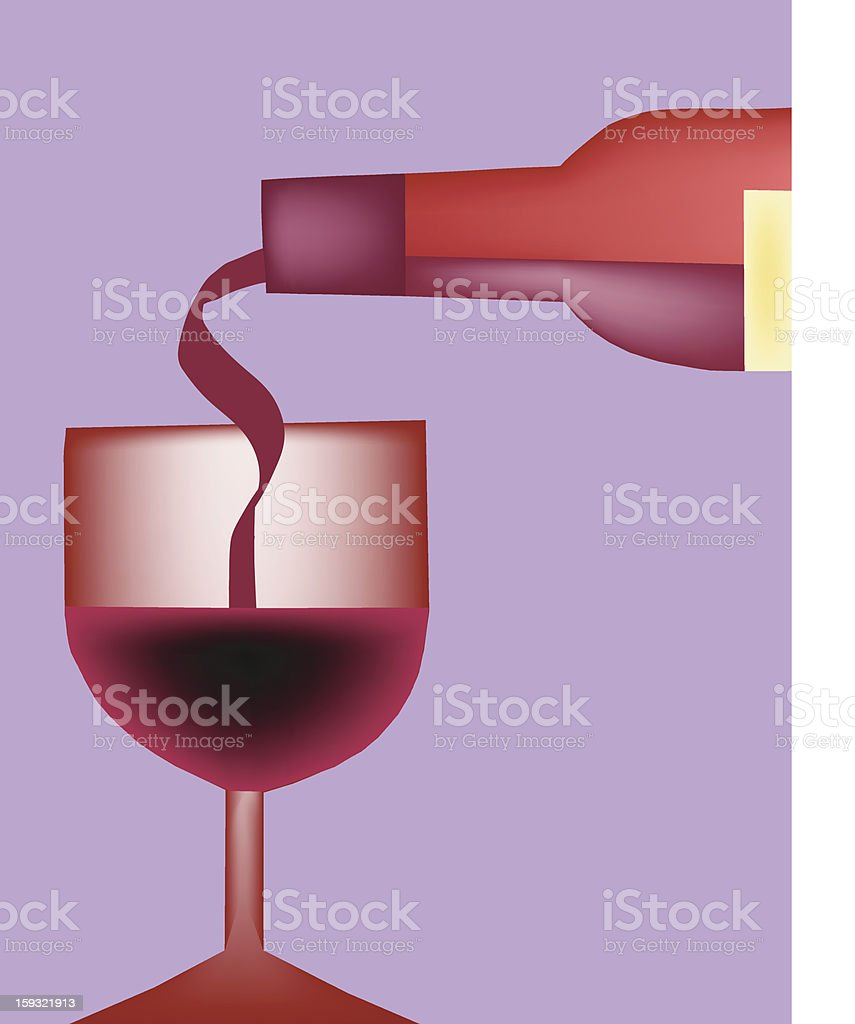 Pour the Wine royalty-free stock vector art