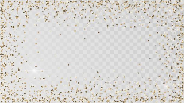 stockillustraties, clipart, cartoons en iconen met gegoten gouden confetti - confetti