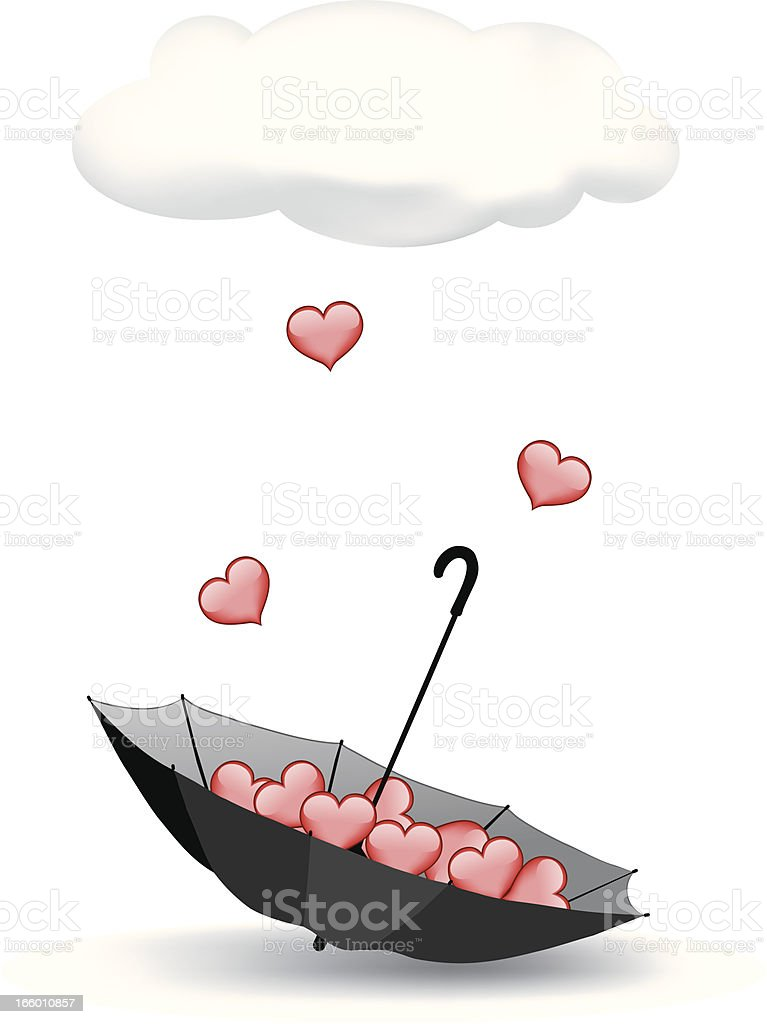 Pouring Love royalty-free stock vector art