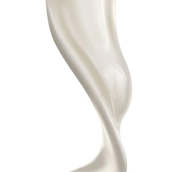 pouring milk splash isolated on white background vector art illustration