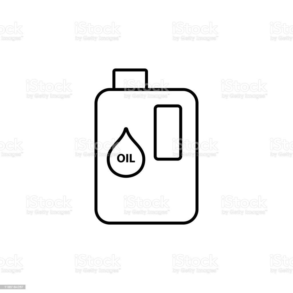 Olja Symbol Bil