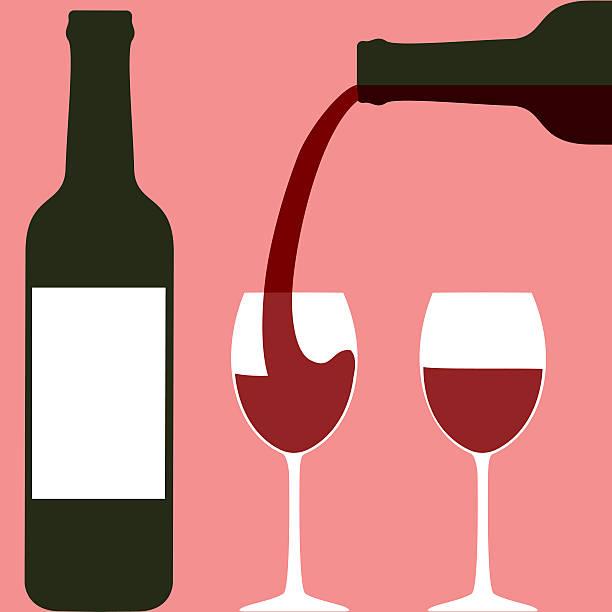 bildbanksillustrationer, clip art samt tecknat material och ikoner med pouring wine - vitt vin glas