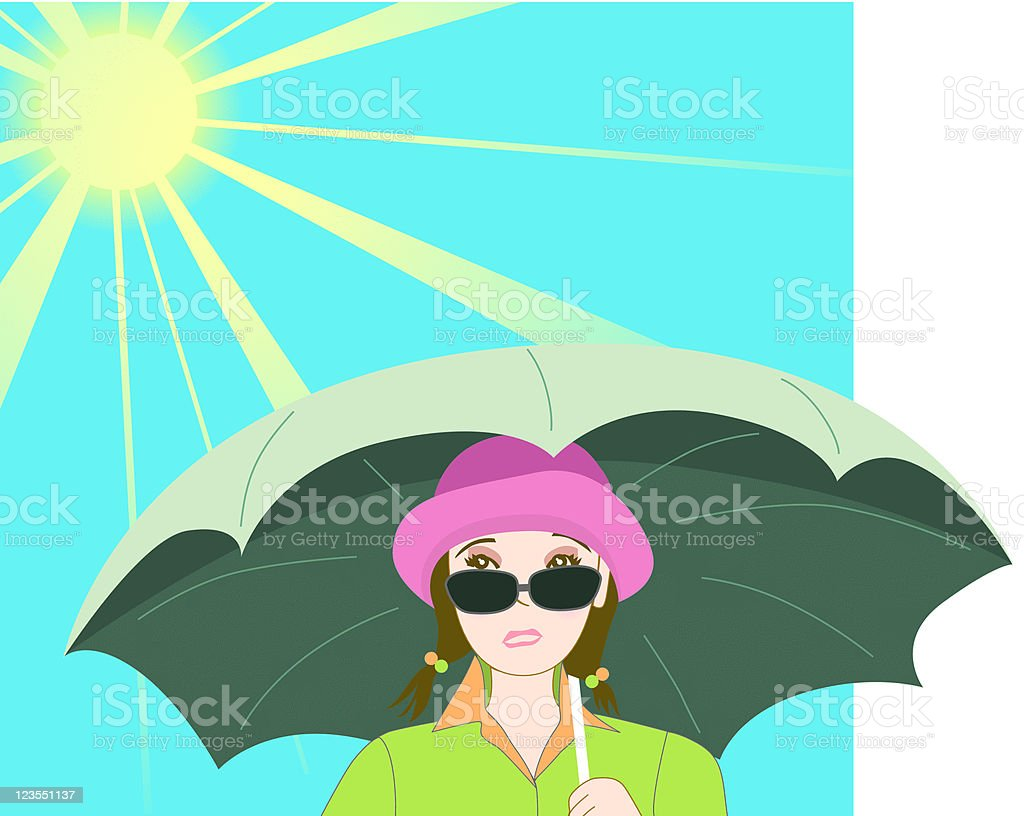 Pouty Face Under The Sun royalty-free stock vector art