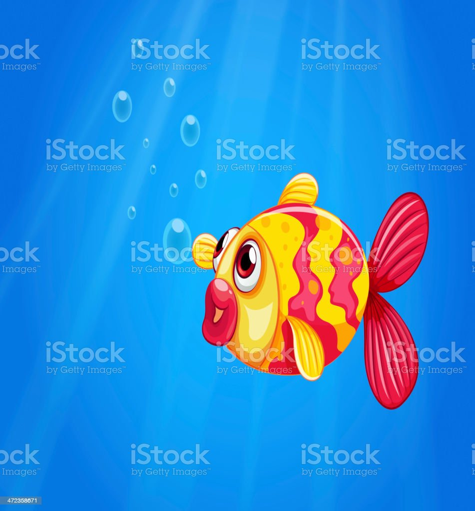 pouty fish in  middle of the sea royalty-free pouty fish in middle of the sea stock vector art & more images of animal