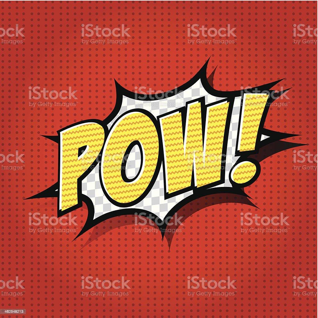 Pow! - Comic Speech Bubble, Cartoon vector art illustration