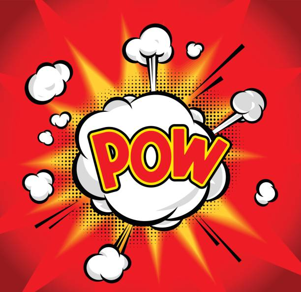 pow - sound effects stock illustrations, clip art, cartoons, & icons
