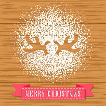 Powdered Sugar Decorate A Reindeer Antler Shape
