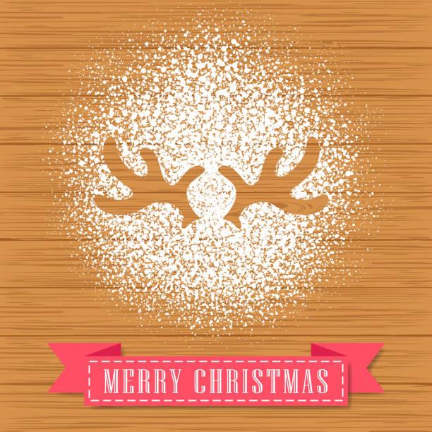 ilustrações de stock, clip art, desenhos animados e ícones de powdered sugar decorate a reindeer antler shape - açúcar