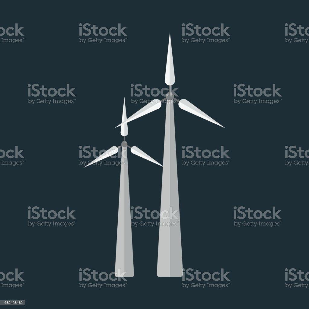 Power alternative energy and eco turbine wind station technology renewable nature vector illustration royalty-free power alternative energy and eco turbine wind station technology renewable nature vector illustration stock vector art & more images of alternative energy