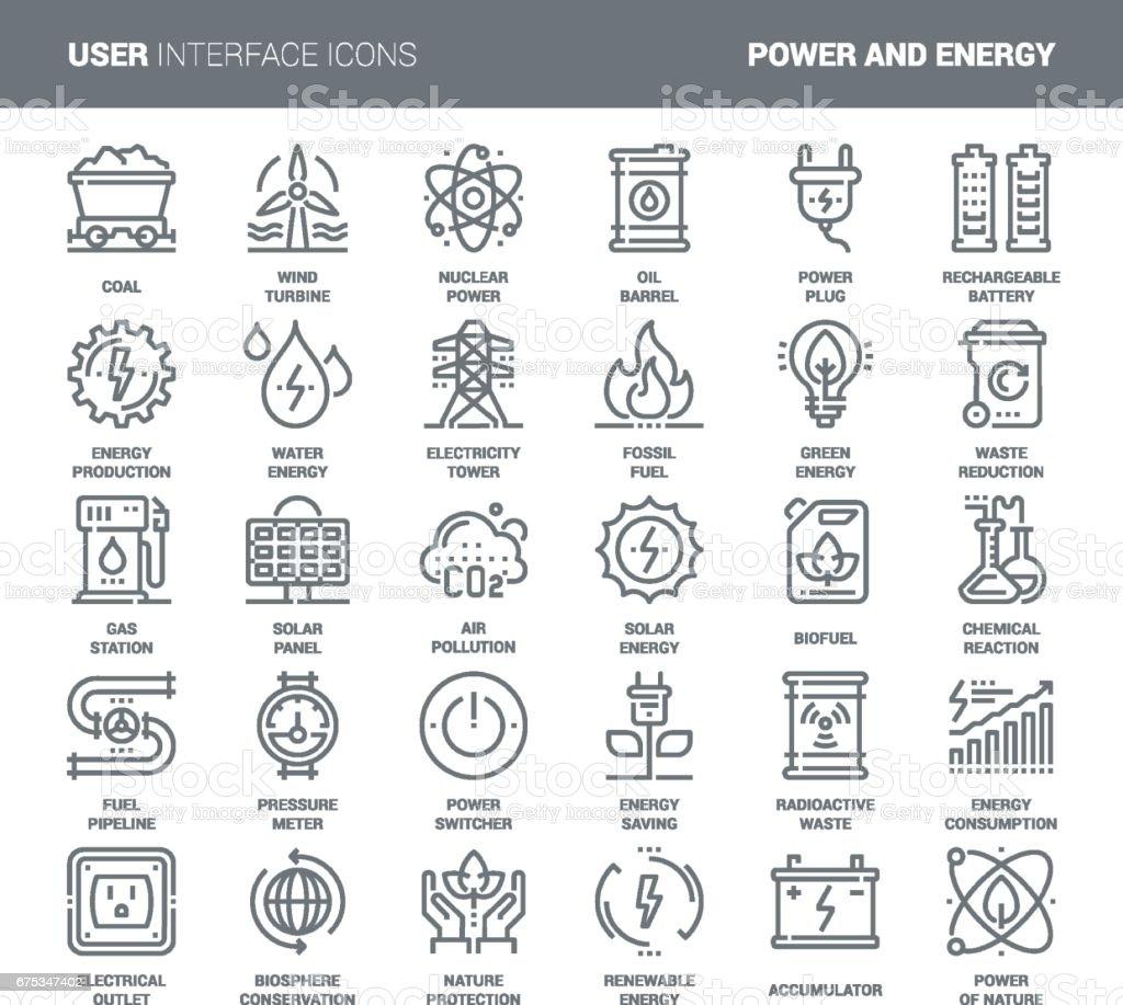Power and Energy vector art illustration