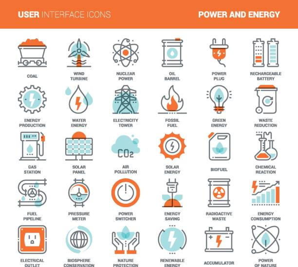 power and energy - energy stock illustrations, clip art, cartoons, & icons