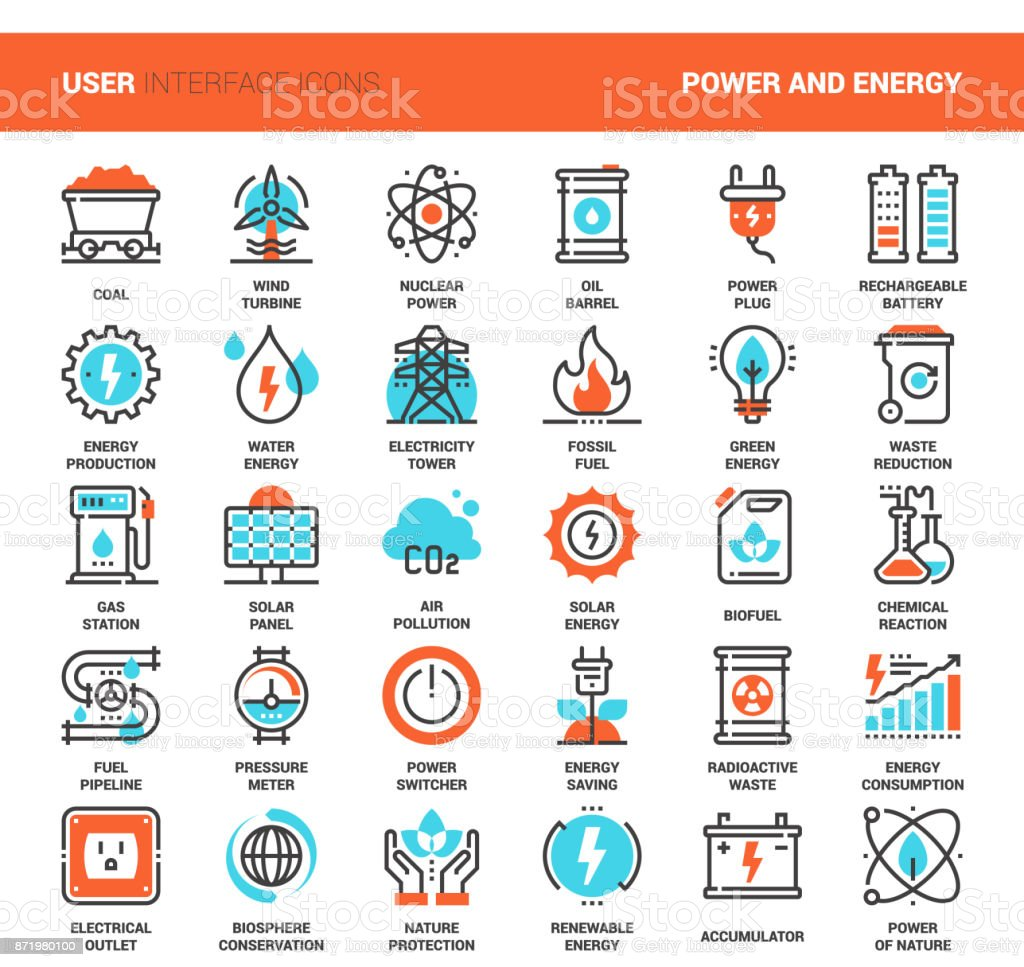 Power and Energy vector art illustration