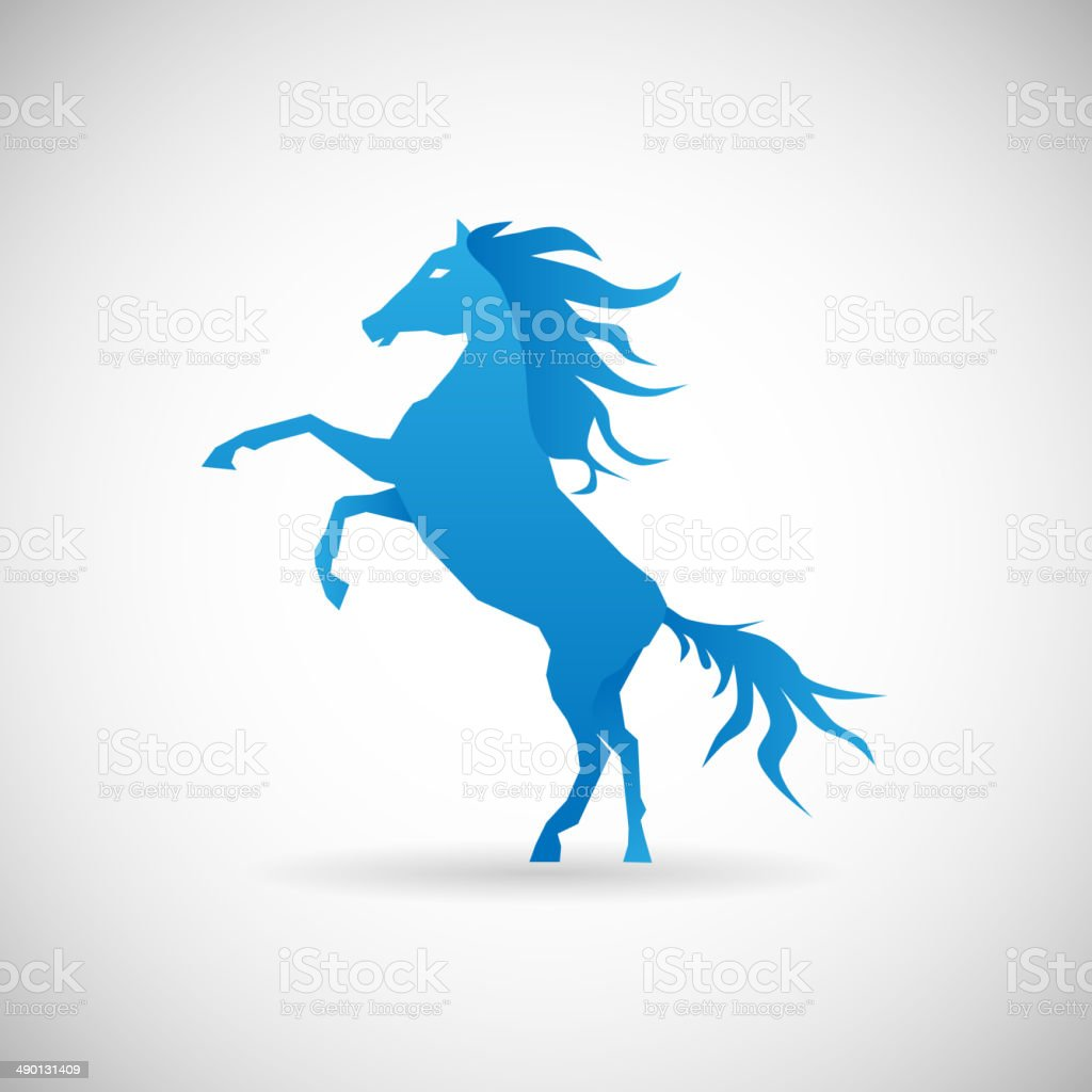 Power And Strengthl Symbol Horse Icon Design Template Vector