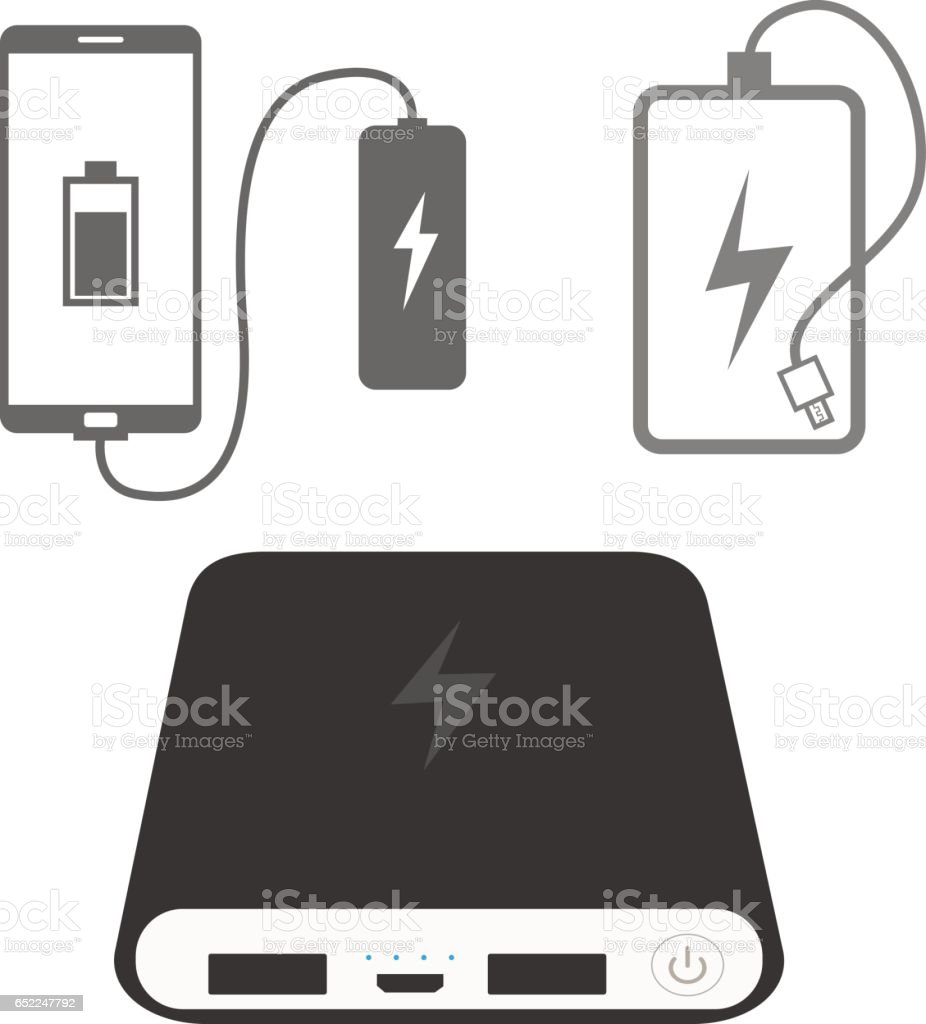 Power bank icons vector art illustration