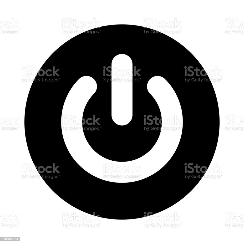 Powertaste Kreissymbol Schwarz Rund Minimalistischen Symbol Isoliert ...