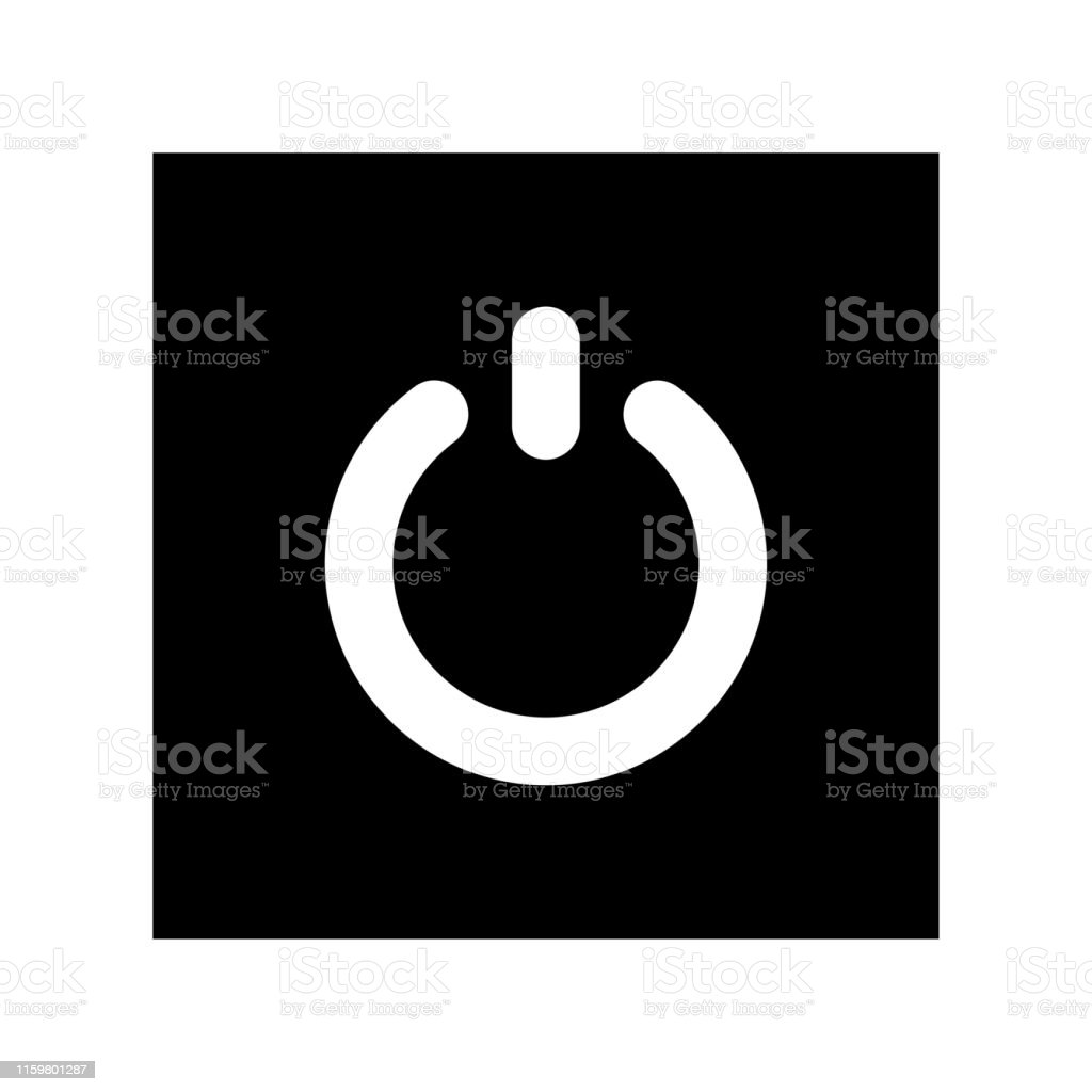 Power Button Icon Flat Illustration Of Power Button Vector Icon For