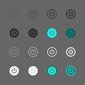Power Button Icon Multi Series Vector EPS File.