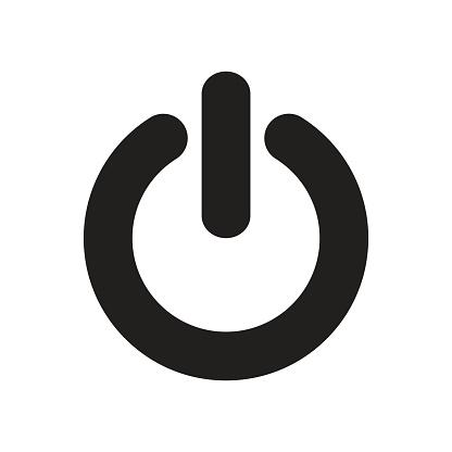전원 버튼 개요 고립 된 벡터 노트북에 대한 스톡 벡터 아트 및 기타 이미지
